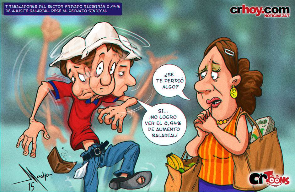 This caricature by CRhoy.com exemplifies the reaction by the public sector worker.