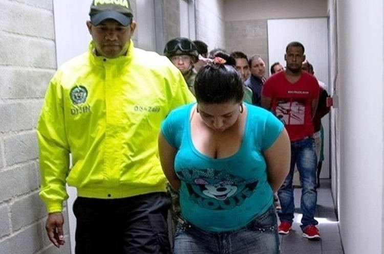 "After a two-year investigation that included surveillance and wiretappings, the Colombian Police's Directorate of Criminal Investigation and Interpol captured Briseida Machado, alias ""Paola,"" the alleged pimp of the Clan Úsuga's most important leaders. [Photo: Colombian National Police]"