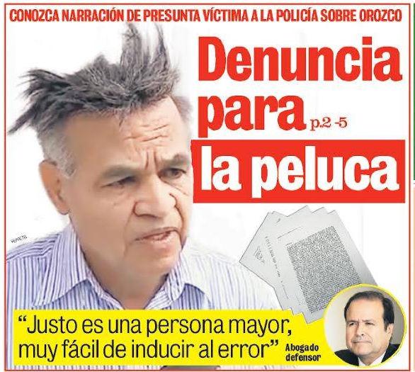 Thursday's front page of La Teja