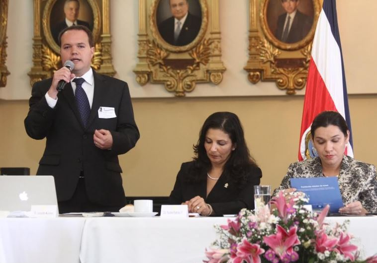 he launch of the Israel Allies Caucus in the parliament of Costa Rica. (photo credit:ISRAEL ALLIES FOUNDATION)