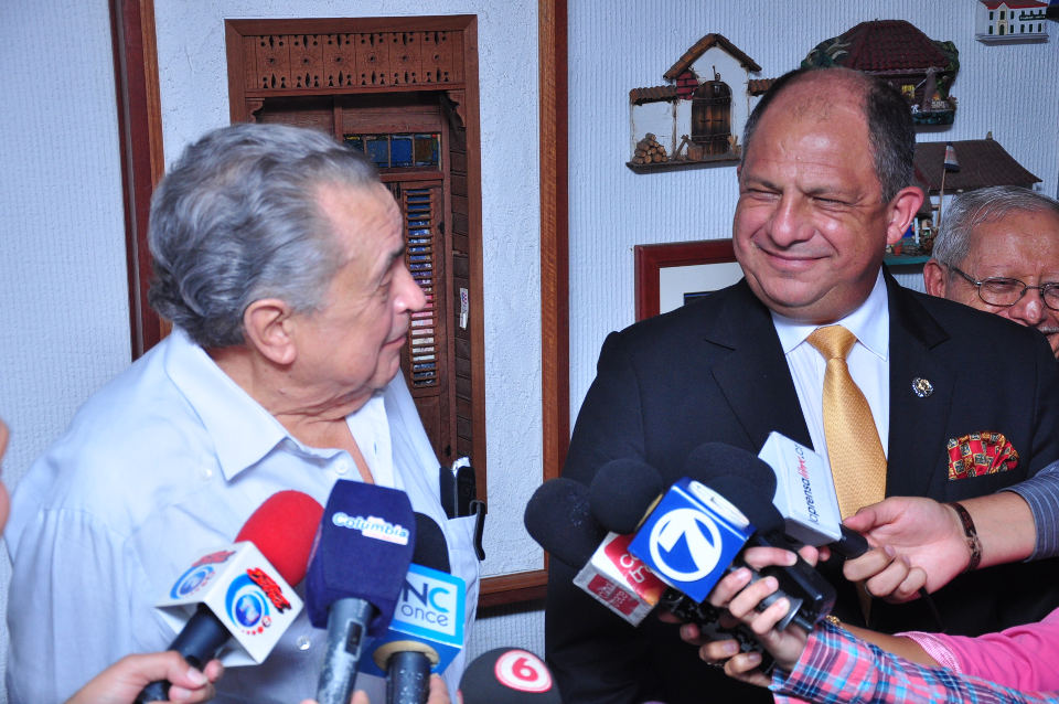 Pacheco says he does not regret having voted for Solis optimistic off meeting. Photo Francisco Herrera, Prensalibre.cr