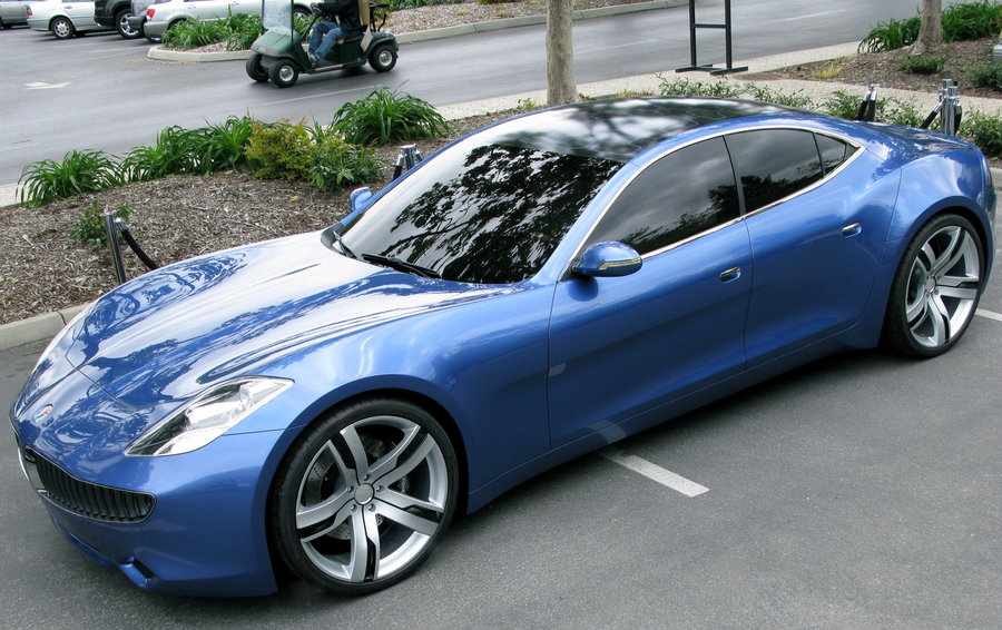 The Fisker Karam PHEV (Plug-in Hybrid) with solar panel roof (Pic: Steve Jurvetson, Flickr)
