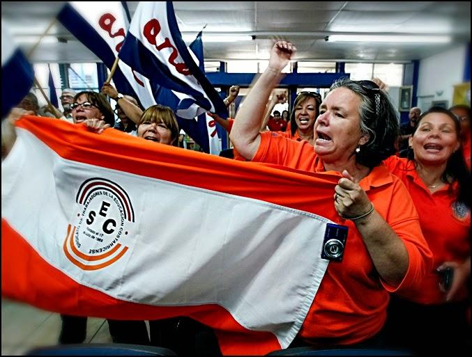 Teachers on strike. Photo archives.