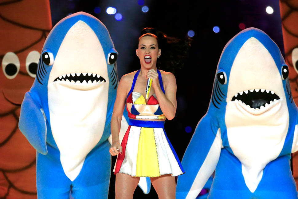 Katy Perry performs during the Pepsi Super Bowl XLIX Halftime Show at University of Phoenix Stadium on February 1, 2015