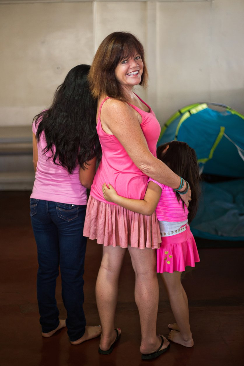 Penny Williams, founder of Seeds of Hope, with two of the Costa Rican girls they've rescued from sex trafficking situations. CREDIT: Seeds of Hope