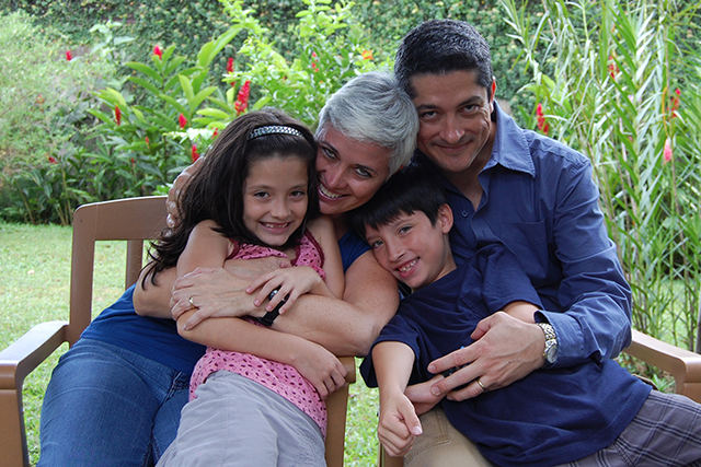 Andrea Bianchi and her husband Alberto Moreno, and their children Camila and Alejandro, are one of the three families the documentary 'Beautiful Sin' follows for a decade. Bianchi and Moreno were one of several couples who took the Costa Rican government before an international human rights court to fight that country's ban on in vitro fertilization (IVF), a fertility treatment in which doctors create embryos in the lab. Costa Rica is the only country in the world that has outlawed IVF. The country lifted its 15-year-old ban on Sept. 10, 2015. Photo courtesy of Azul Films.