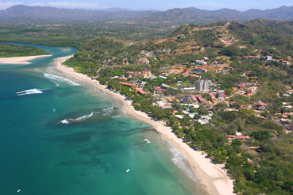 """Costa Rica Playa Tamarindo and Rivermouth 2007 Aerial Photograph"" By Tamarindowiki,"