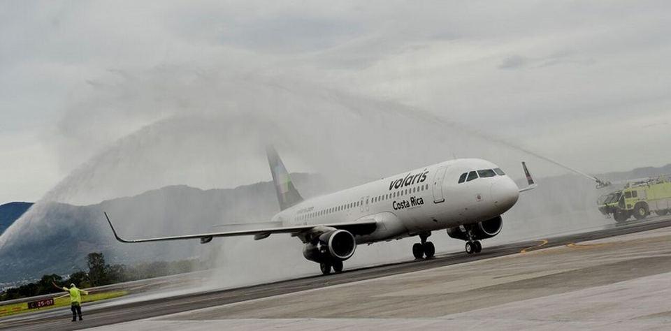 Volaris welcome at the Juan Santamaria (San Jose) airport. Photo ICT