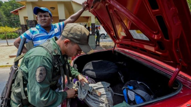 Venezuela said smuggling gangs and paramilitaries had been operating on the border area