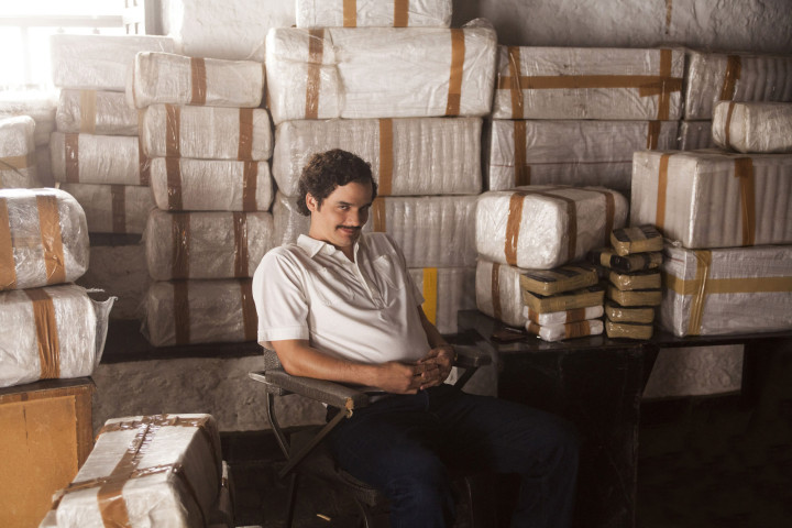 """Actor Wagner Moura plays cocaine kingpin Pablo Escobar in Netflix's """"Narcos."""" Photo: AP"""