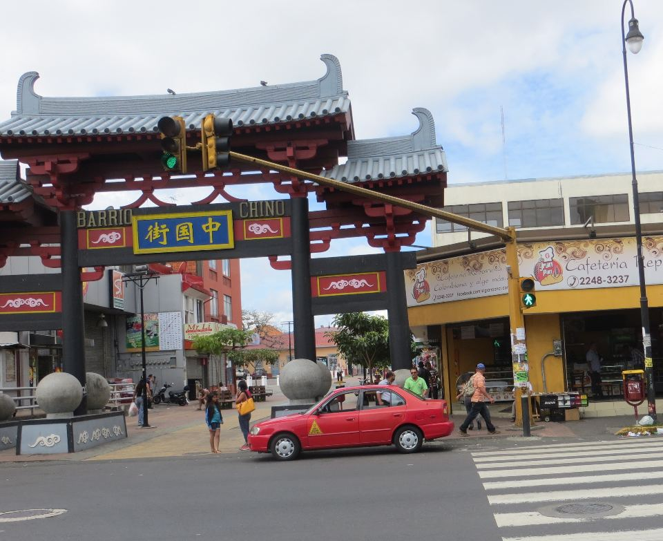 The grand Chinese Welcome Gate on Avenida 2 welcomes visitors to Barrio Chino, San José's new Chinatown