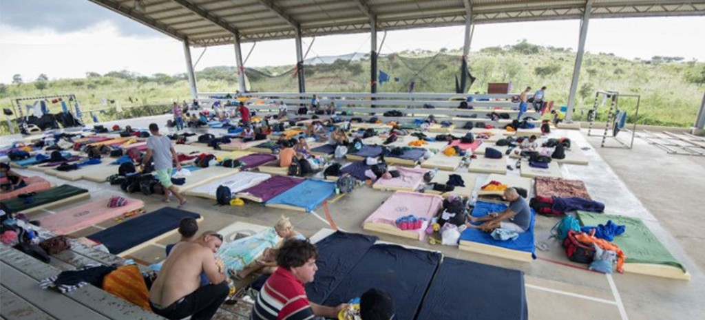 Almost 5,000 Cuban migrants are living in shelters on the Costa Rica side of the Nicaragua border, with more on their way from Panama, while the government looks for a solution