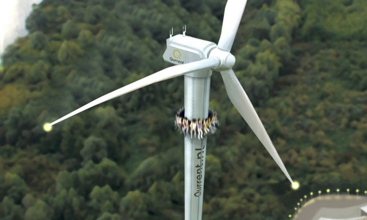 Tejona Wind Farm, overlooking Lake Arenal