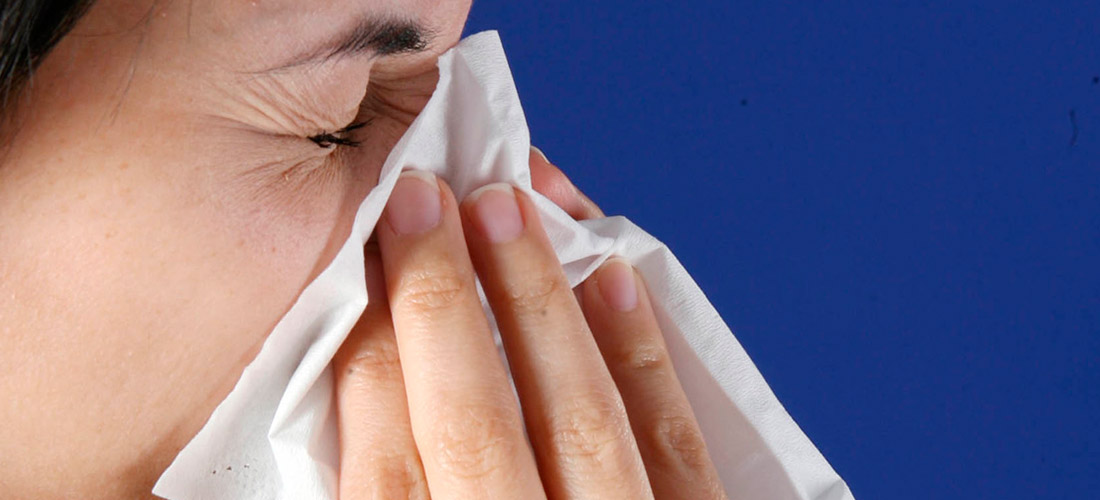 Cover your nose and mouth with a tissue when you cough or sneeze.