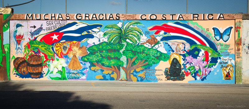 Cuban art and color thanks to care provided by Ticos