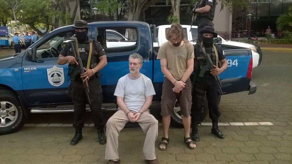 Sepehr's capture in Nicaragua in April 2015. Photo http://nuevaya.com.ni/policia-captura-a-irregulares-con-causas-pendientes-en-costa-rica-y-eeuu/