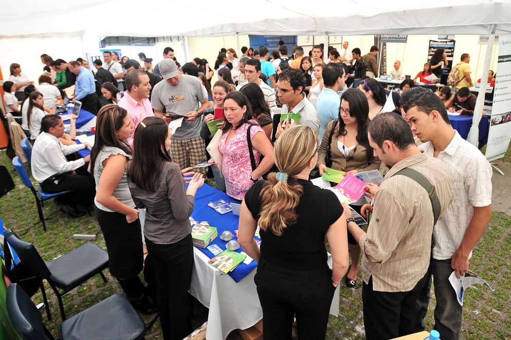 Job fairs are one of the ways in which people seek work. Continuous Employment Survey considered unemployed people who made efforts to find a job, but found him not.