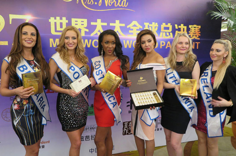 Shakira McDonald was among the top 12 finalsts in the Mrs. World 2016 pageant