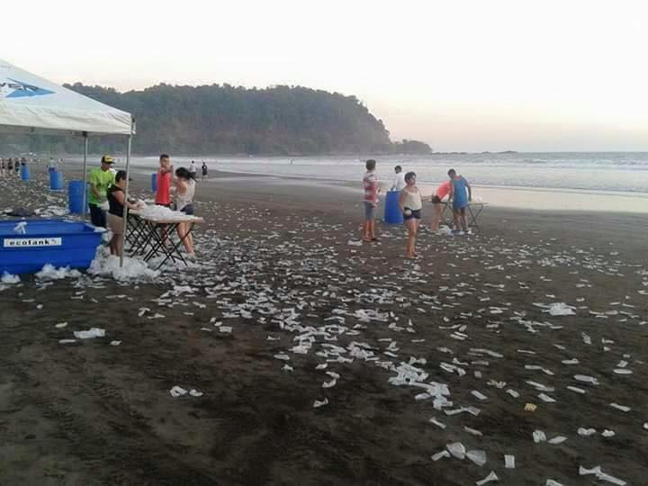 Playa Jaco after a beach run on Saturday (April 2, 2016). Photo from Facebook page El Infierno en Costa Rica