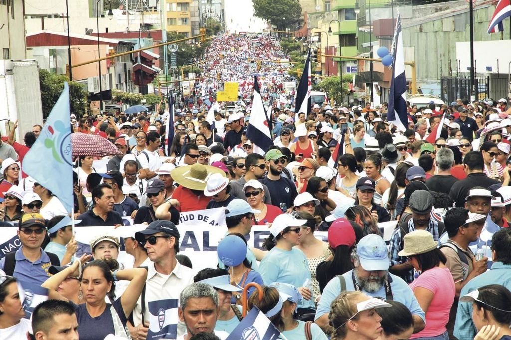 Avenida Segunda on Tuesday. The strike continues today Wednesday