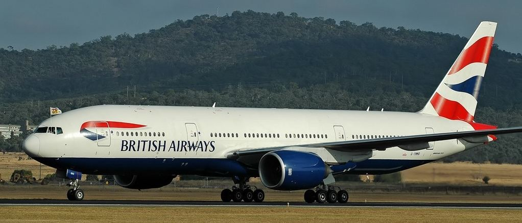 British Airway's B777 that will sooon be landing in Costa Rica