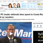 Manitoba Conservative leader defends time spent in Costa Rica, says he worked on vacation