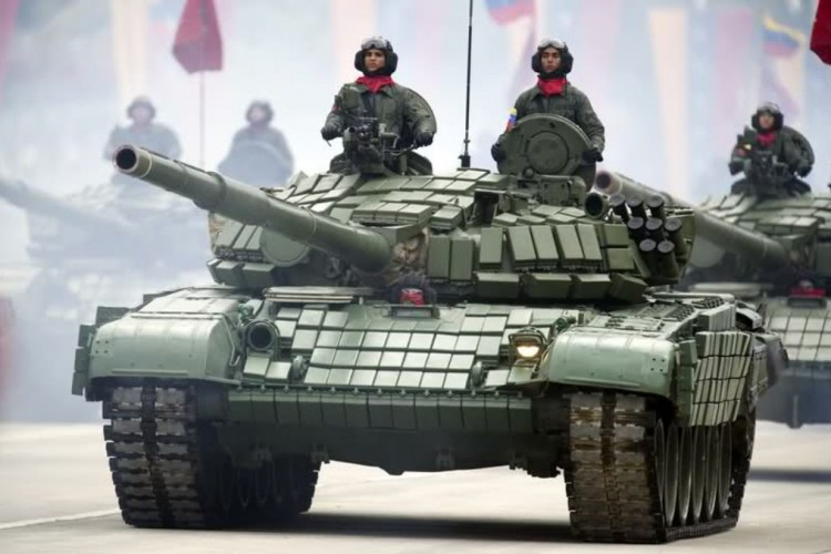 Russian tanks are similar to those possessed by the Navy of Venezuela. Photo taken from the Ministry of Popular Power for the Defense of Venezuela