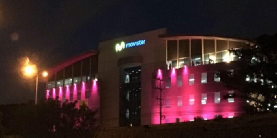 Telefonica (Movistar) offices in Escazu Friday night.