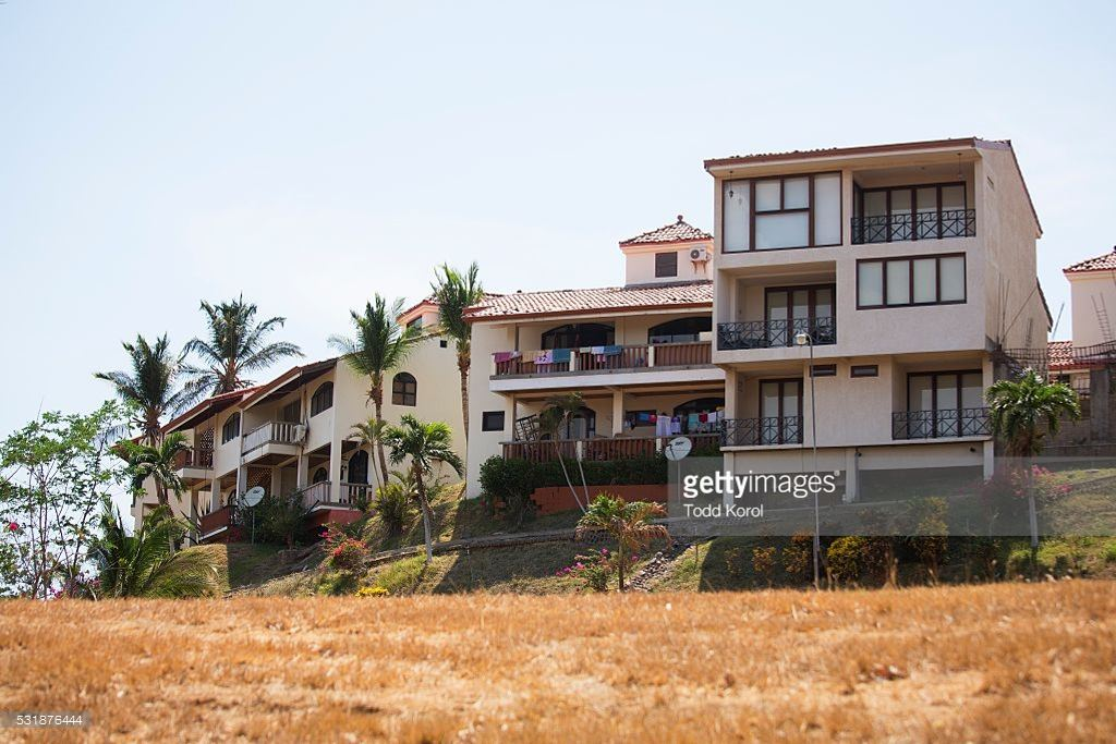 The housing complex where retired professional boxer Donny Lalonde lived when he declared bankruptcy in Canada. Getty Images.