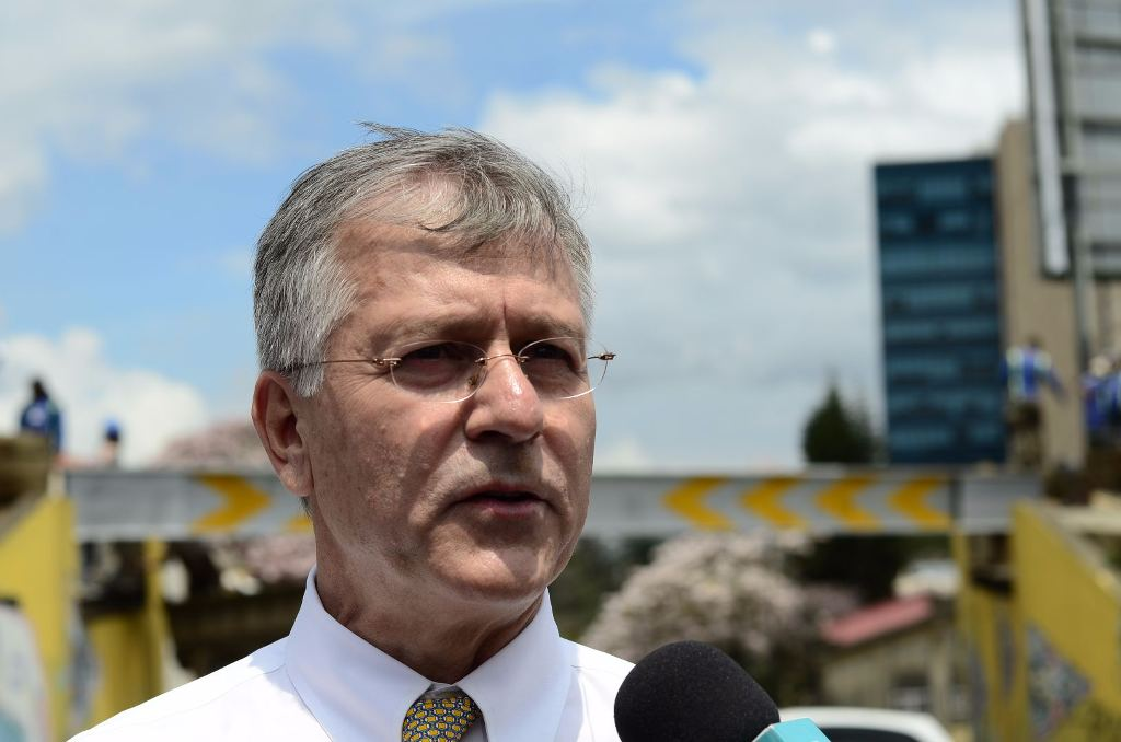 Guillermo Santana, head of the Incofer, the national railway that has been crippled by accidents and lack of funding
