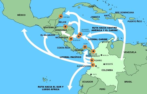 colombian drug cartel map wwwimgkidcom the image kid