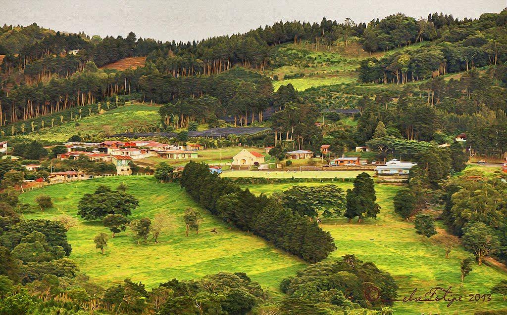 Paisaje de Llano Bonito, Naranjo, Costa Rica