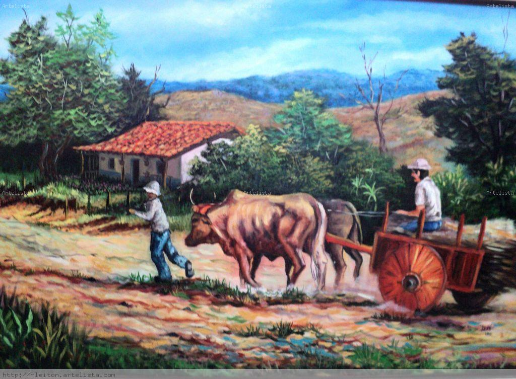 The metal pieces were move from the port of Limon on the Caribbean coast to Grecia by oxen cart