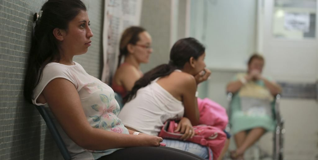 Six-weeks pregnant Daniela Rodriguez, 19, waits for test results after being diagnosed with the Zika virus at the Erasmo Meoz Hospital in Cucuta, Colombia, Thursday, Feb. 11, 2016. Norte de Santander is the state with the highest cases of Zika virus in the country. (AP Photo/Ricardo Mazalan)