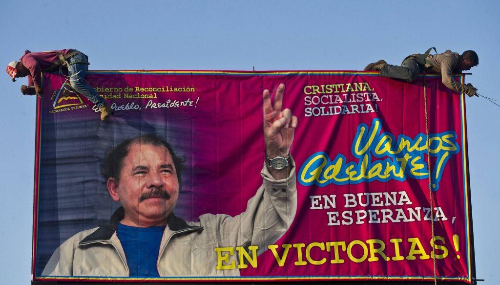 A 2015 banner in support of Daniel Ortega (La Prensa)