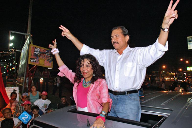 October 2006: Daniel Ortega, former Nicaraguan President and his wife Rosario Murillo