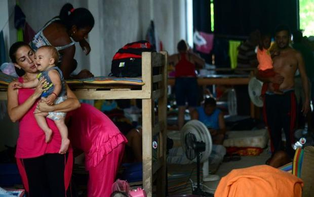 The Colombian government rejected stranded Cubans' demand to be airlifted to Mexico so they could continue to the United States. Raul Arboleda, --/AFP/File