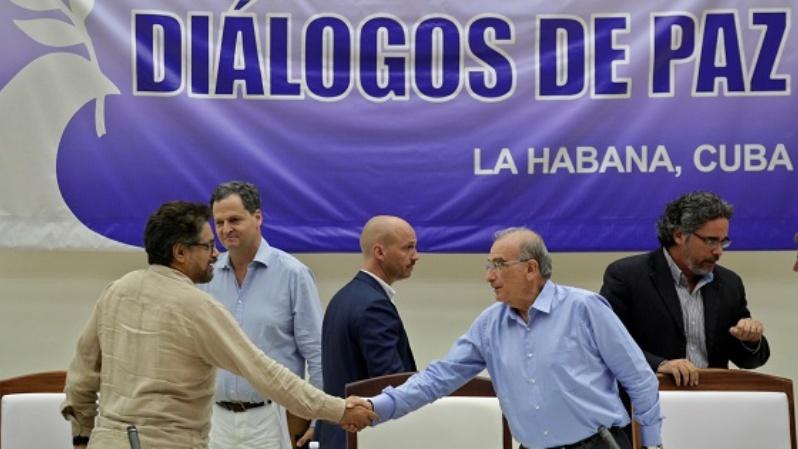 The FARC peace process negotiators in Havana, Cuba
