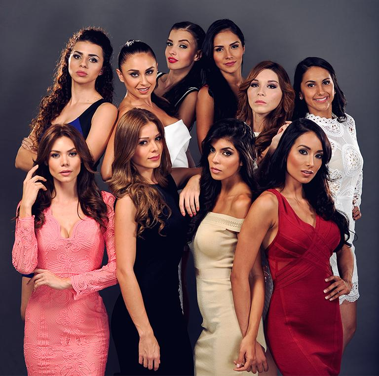The Miss Costa Rica 2016 finanlists.