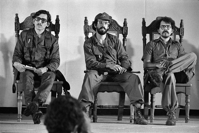 Humberto Ortega Saavedra, Luis Carrión y Daniel Ortega Saavedra en 1979.