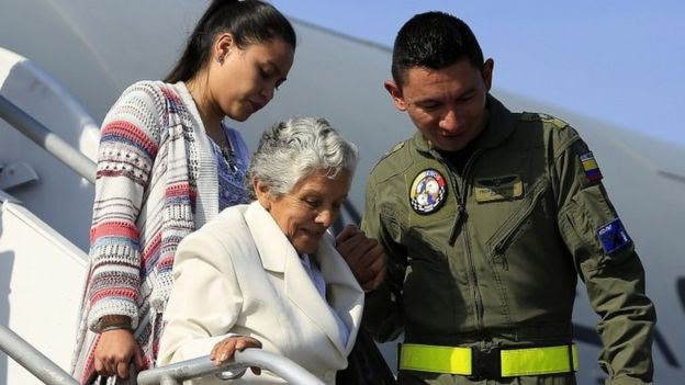 Relatives of people kidnapped and murdered by Farc rebels are attending the ceremony