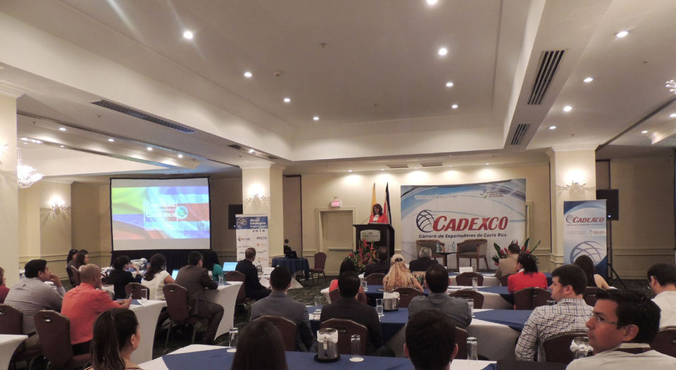 Businesses and governments yesterday analyzed the potential of trade and investment between Colombia and Costa Rica, at the Crowne Plaza hotel Corobicí at an event organized by the Chamber of Exporters of Costa Rica in a range of activities in this regard. | COURTESY CADEXCO