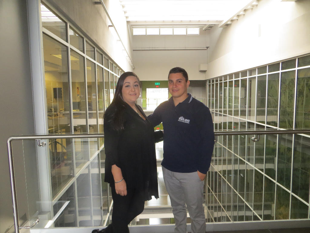 Public Relations officer Adriana Guzmán, and archaeologist Sergio Garcia are part of the professional staff at Costa Rica's new Jade Museum.