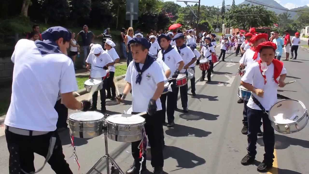 The drums are part of the Independence Day (Sept 15) tradition in Costa Rica