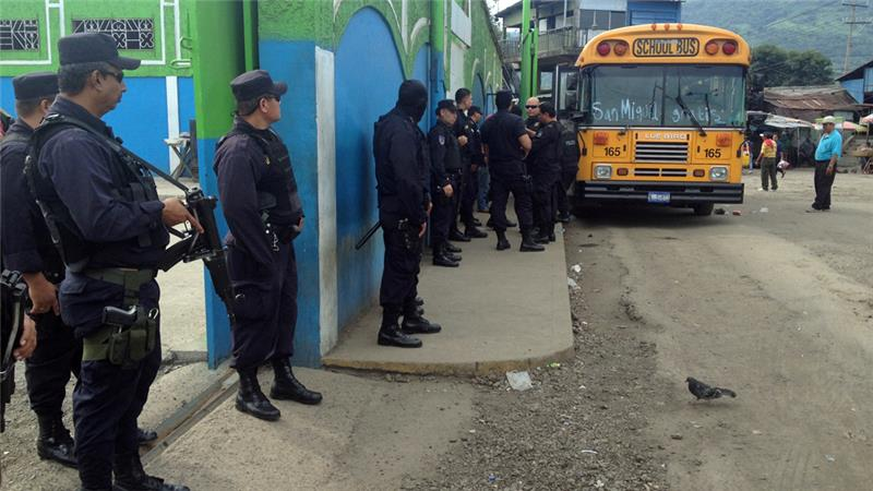 The El Salvador government increased police presence in response to gang violence