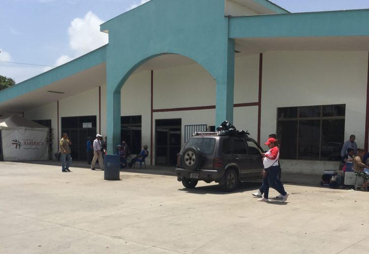 Nicaragua Customs Building at Peñas Blancas border – enter on the left where sign above the door is.