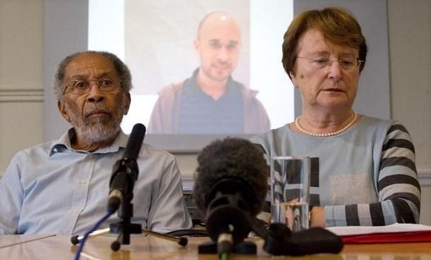 Michael's parents pictured at press conference in London. (PRNewsFoto/David Dixon) source: David Dixon