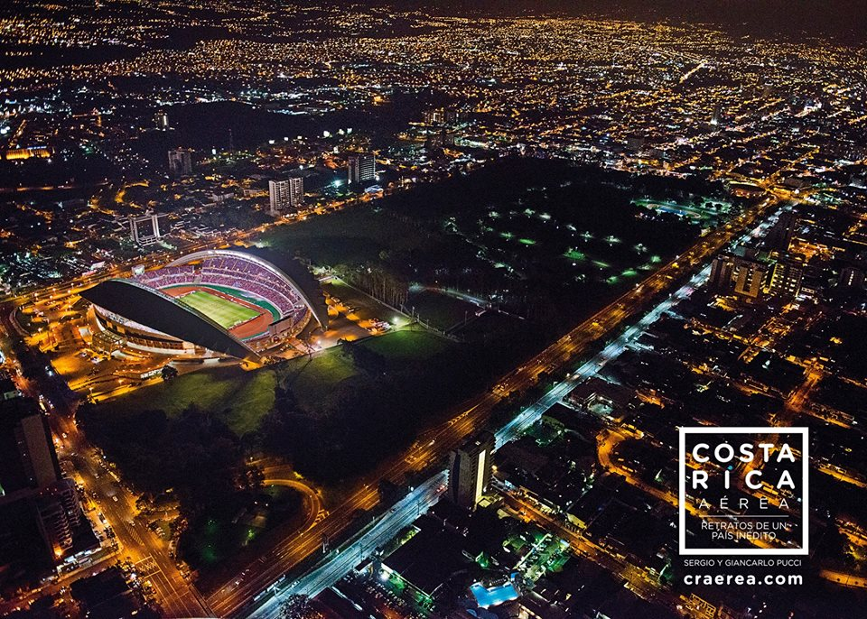 The National Stadium in La Sabana from above