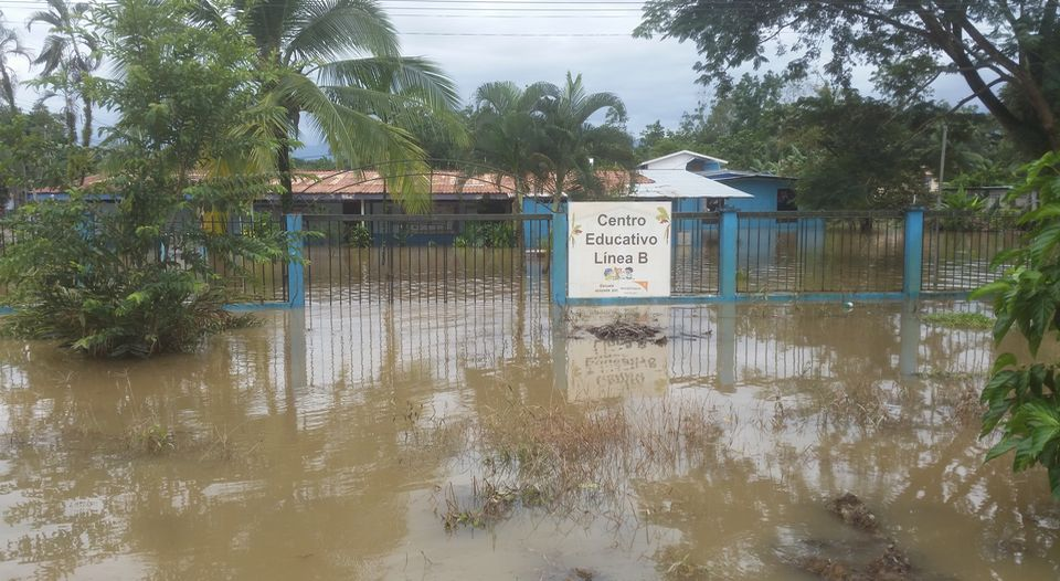 Many areas in the province of Limon have been affected by the heavy rainfall. Photo La Nacion