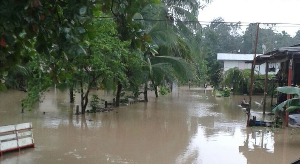 Mnay parts of the southern zone and Caribbean coast are already under water from the weekend's Tropical Storm